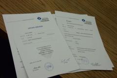Dyplom absolwenta Zintegrowanych Studiów Zagranicznych - 2003r
