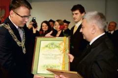 Nagroda Prezydenta Zielonaj Góry dla Z. Rotkiewicza absolwenta Wydziału - 2012r